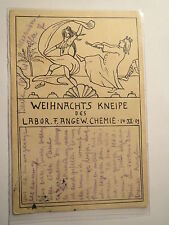 Berlin - Labor für angewandte Chemie - Weihnachts-Kneipe - 1909 / Studentika