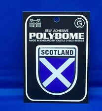 Scotland Shield Polydome Raised Badge Sticker PD30