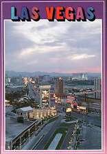 Las Vegas Strip, Caesar's Palace, Frontier, Sands, Holiday, pre 1992 -- Postcard