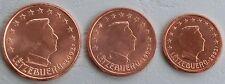 1+2+5 Euro Cent Luxemburg 2002 unz
