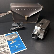 Vintage Bell & Howell 311 Super 8 Windup Movie Camera w/Case & Instructions 1966