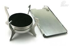 PHANTOM ULTRALIGHT STOVE & WINDSHIELD SET Alcohol Burner Hiking Fishing UK-Made
