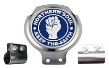 Northern Soul Blue & White Design Scooter Bar Badge - FREE BRACKET & FIXINGS