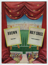 1952 BROWN University HOLY CROSS NCAA College Football Program WORCESTER Bears