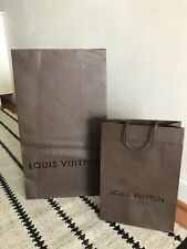 2 LOUIS VUITTON Small And Large BROWN EMPTY GIFT SHOPPING BAGs