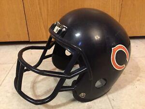 Chicago Bears Franklin Helmet Plastic Football Kids Toy Replica Vintage Costume