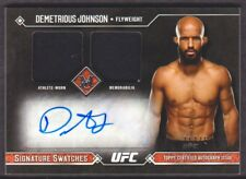 2017 Topps UFC Museum Collection Signature Swatches Demetrious Johnson Auto /75