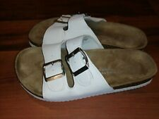 Atmosphere Swim and Beach Collection Womens Girls Comfort Sandals White Size 5