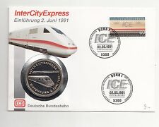 BRD Numisbrief DB InterCityExpress Einführung 1991 mit Medaille Nr.53/11/16/453