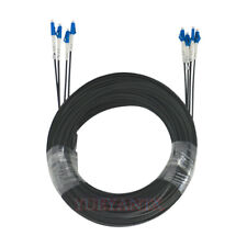 200M Butterfly 4 Cores Outdoor FTTH Fiber Optic Drop Cable SM LC UPC Patch Cord