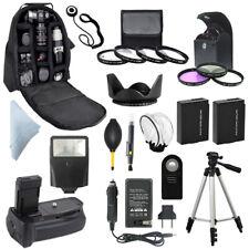 Canon T3I T4I T5I SLR Battery Grip + Backpack + LP-E8 Camera Accessory Bundle