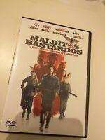 DVD MALDITOS BASTARDOS  de  tarantino Y CON BRAD PITT