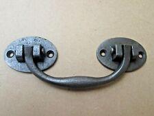 RUSTIC IRON RIVETED Chest Drawer Door Handle drop bar handle