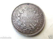 PIECE 5 FRANCS ARGENT 1849 A / SECONDE REPUBLIQUE