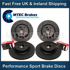 VW Golf mk5 R32 3.2 Black Front & Rear Drilled Brake Discs with  Brembo Pads