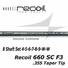 8 Shaft Set 4-SW UST Mamiya Recoil 660 Smoke Chrome F3 - R Flex .355 Taper Tip