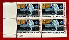 1969 US Airmail SC#C76 10c Moon Landing Plate Block of 4 MNH/OG