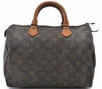 Authentic Louis Vuitton Monogram Speedy 30 Hand Bag M41526 LV B6112