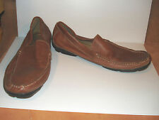 CHAPS Brown Leather, Casual Loafers, Mens 13M