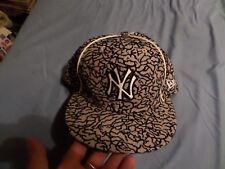 MLB NY Yankees Baseball Cap Genuine 100% Wool New Era Fitted 59 Fifty Hat 7 3/8