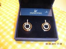 Swarovski crystal - Circle Pierced Earrings