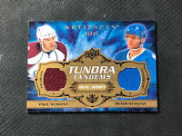 2008-09 UD ARTIFACTS PAUL/PETER STASTNY TUNDRA TANDEMS DUAL JERSEY #ed 18/25