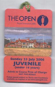 2006 British Open Ticket Sunday July 23rd 4th Tournament Round Tiger Woods Wins