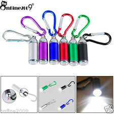 1W Mini Pocket Key Chain LED Torch Zoom Carabiner Lamp Фонарик Flashlight Gift