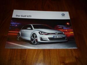 VW Golf GTI Prospekt 10/2015