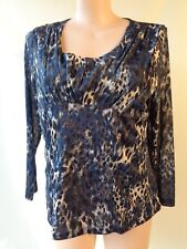 Millers size 20 blue print top long sleeve stretch