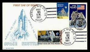 DR WHO 1981 FDC SPACE SHUTTLE 3 MUSCATEERS CACHET COMBO PRIORITY $2.40 g42075