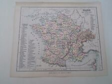 Antique Map 1890 ~ FRANCE+SWITZERLAND - From Philips Atlas For Beginners  §7