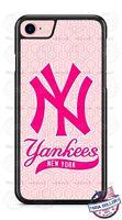 New York Yankees Baseball Pink Design Phone Case Cover for iPhone Samsung LG etc