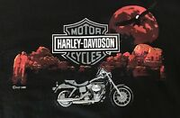 Vintage 90s Harley Davidson Eagle Sunset T-Shirt Size Large Cancun, Mexico