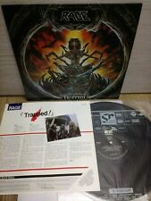 Rage - Trapped! 1992 Korea LP Vinyl 12 Tracks Insert Refuge