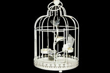 Bird Cage Shabby Chic Metal Candle & Tea Light Holders