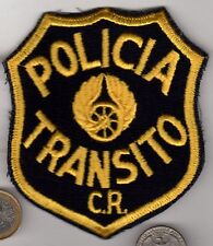 Vintage Military or Highway Police Patch Costa Rica? POLICIA de TRANSITO C.R.