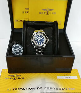 Breitling Superocean 42mm A17364 Chronometer Mens Watch Box Papers Tag