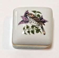 Limoges Songbirds of Springtime Song Sparrow & Lilac 4th in Ltd. Ed. Series Euc