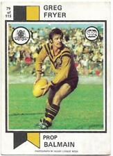 1974 Nrl Rugby League Scanlens (79) Greg FRYER Balmain *
