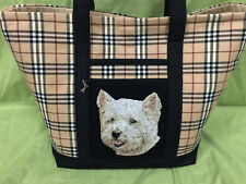 Beautiful Custom Embroidered West Highland White Terrier Tote