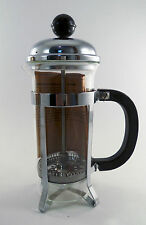 French Press Coffee Tea Maker 350cc 3 cup 12 oz. Silver OR Gold # T217 NOS