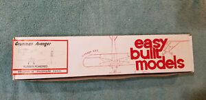"""Easy Built Models GRUMMAN AVENGER 28"""" Wingspan Kit #FF-69 NEW OPEN BOX"""