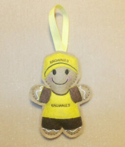 Brownie Gingerbread Felt Embroidered Hanging Decoration Ornament