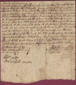 Slave Document, Etheridge Family, North Carolina, Sale of Negro Girl, 1796