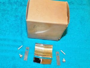 1959 Ford Fairlane NOS TRUNK LUGGAGE COMPARTMENT ORNAMENT LOCK KEY HOLE COVER