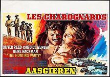 THE HUNTING PARTY 1971, ORIGINAL POSTER, CANDICE BERGEN, GENE HACKMAN, VIOLENT