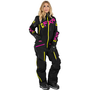FXR Ladies Ranger Instinct Insulated Monosuit Black/Fuchsia/Hi Vis