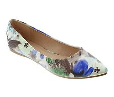 Floral Printed Pointed Toe Slip On Classic Women Ballet Flats Shoes