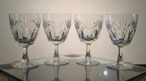 "INVERNESS WEBB CORBETT CRYSTAL Water Goblets 5 1/2"", SET/4 Signed, Pineapple Ptn"